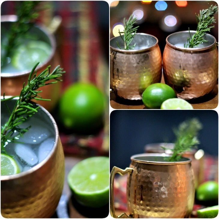 Moscow Mule, Rosemary, Simple Syrup, Ginger Beer, Cocktail, Alcohol, Beverage