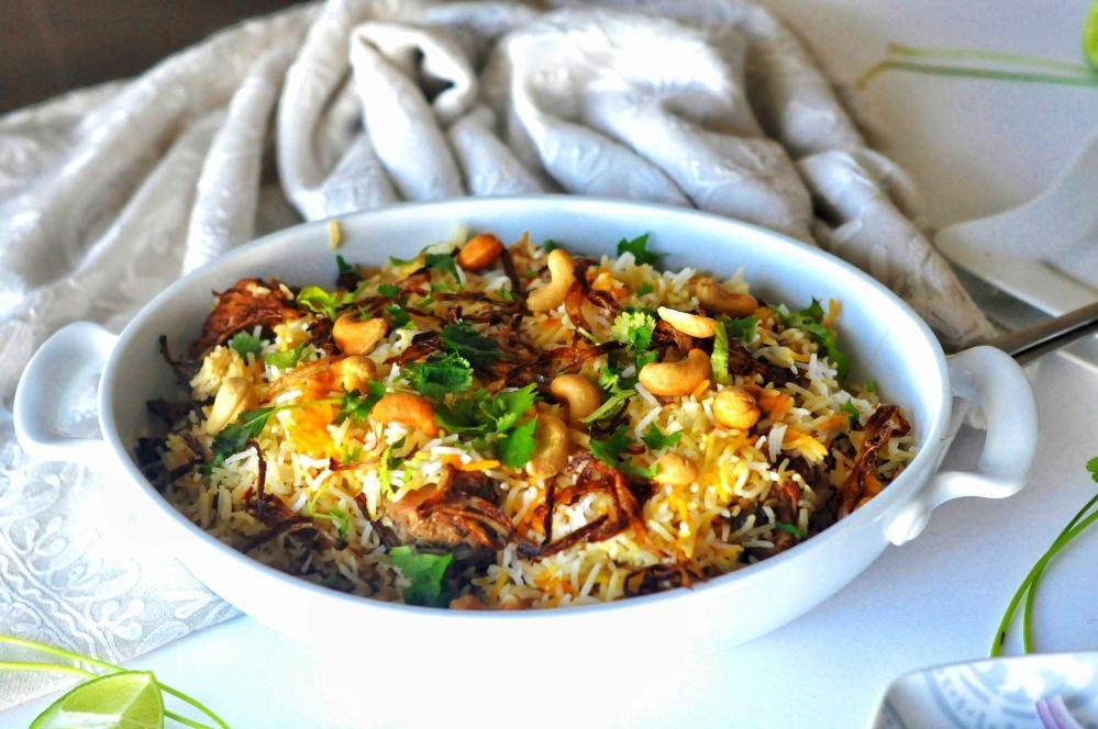 One pot Meal, Biryani, Chicken Pulao, Chicken Dum Biryani, Hyderabadi Dum Biryani