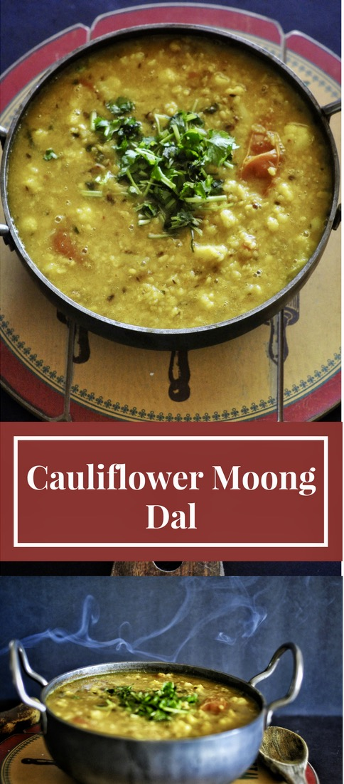 Dal, Stew, Indian Dal, Dahl, Moong Dal, Cauliflower Soup, Fall night meals, Winter night stews