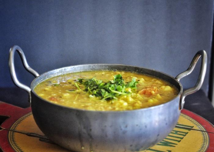 Dal, Stew, Indian Dal, Dahl, Moong Dal, Cauliflower Soup, Fall night meals, Winter night stews, Vegetarian, Vegan
