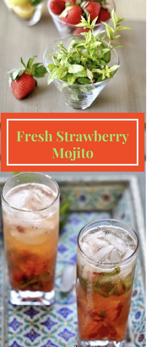 Mojito, Rum, Strawberries, Alcohol, Mocktail