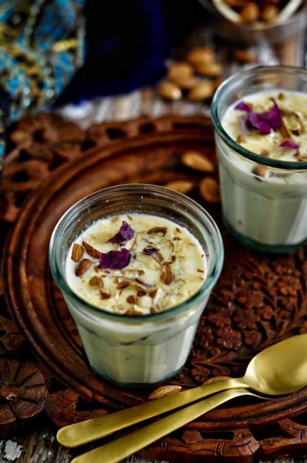 Pudding, Vegetarian, Celebration, Dessert, Indian Sweet, Rice Kheer, Almond Kheer, Badam Kheer, Phirni