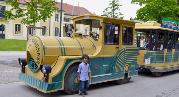 The Toy Train ride at Schönbrunn Palace