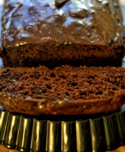 The Best Chocolate Banana Bread with Nutella Glaze