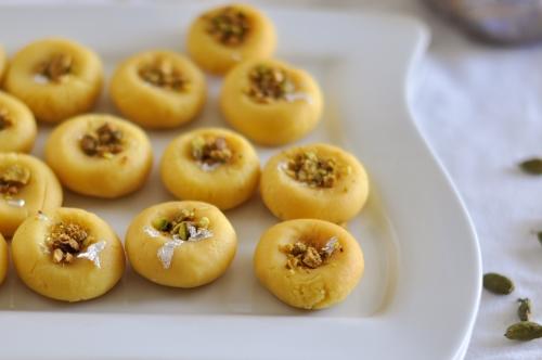 Microwave-Cardamom-Peda(Cardamom Milk Fudge)