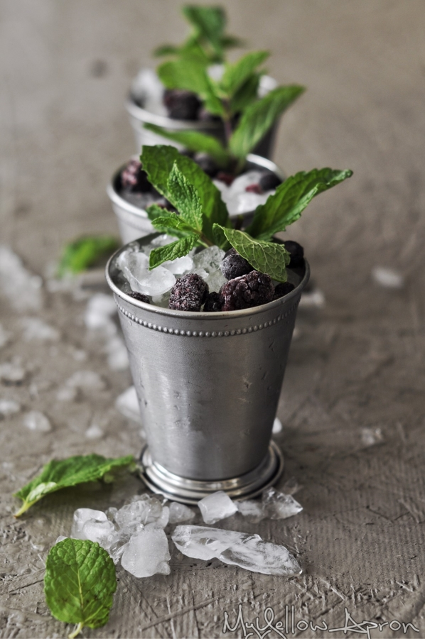 Mixed Berry Mint Julep, Mint Julep, Bourbon