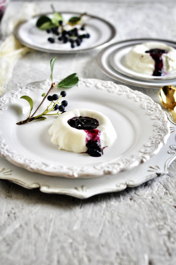 Eggless Panna Cotta, Italian Dessert, Greek Yogurt Dessert
