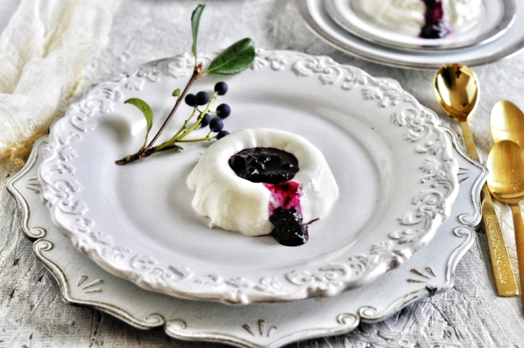 Eggless Panna Cotta, Italian Dessert, Greek Yogurt Dessert, Custard