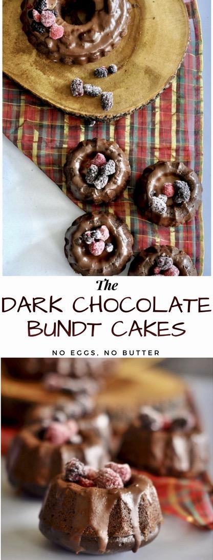 Egg less cakes, Butter less cakes, dark chocolate cakes, Bundt Cakes, Mini Bundt Cakes, Ghirardelli chocolate cakes, cakes, chocolate cake