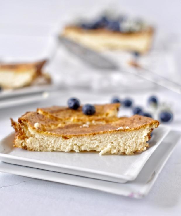 Ricotta Cheese Tart (Egg-less, Flour-less)