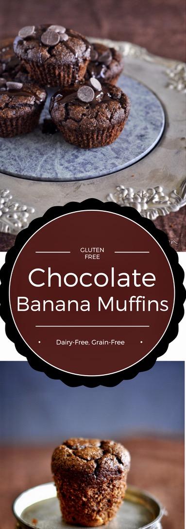 Gluten Free Chocolate Banana Muffins