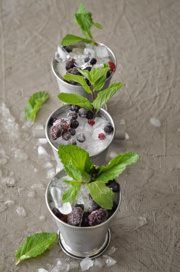 Mixed Berry Mint Julep, Mint Julep, Bourbon