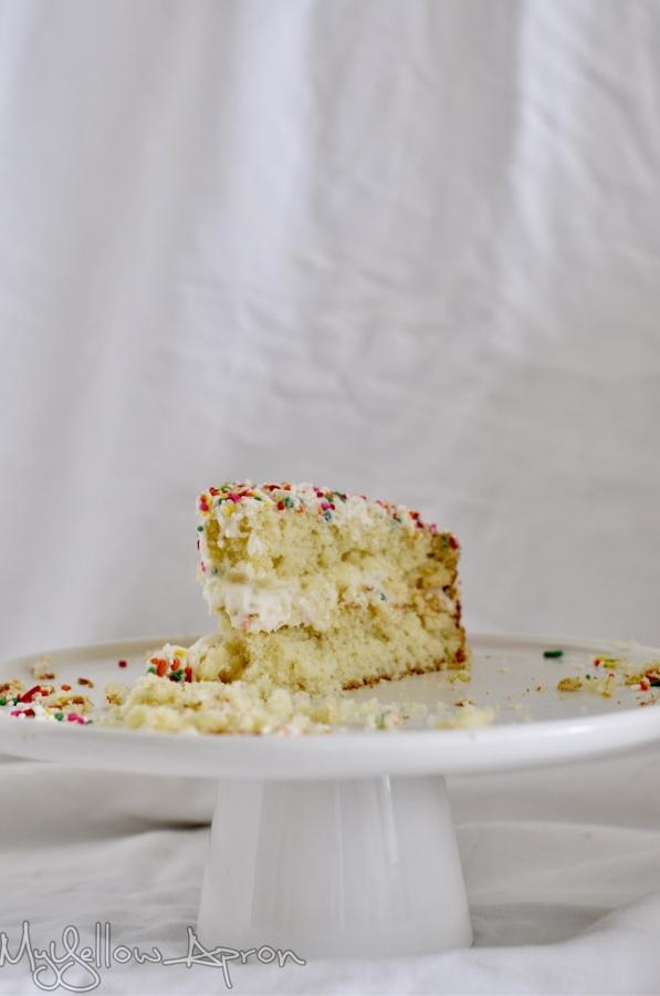 Birthday Sprinkle Cake, Confetti Layer Cake, Semi Home made Birthday Cake