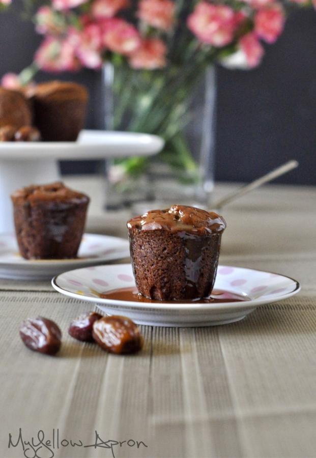 Date, Pudding, Custard, Rum, Caramel Sauce, Sticky Date Pudding, Date cake, Whole Wheat Dessert, Eggless Dessert, Butter less Dessert, Olive Oil in Baking