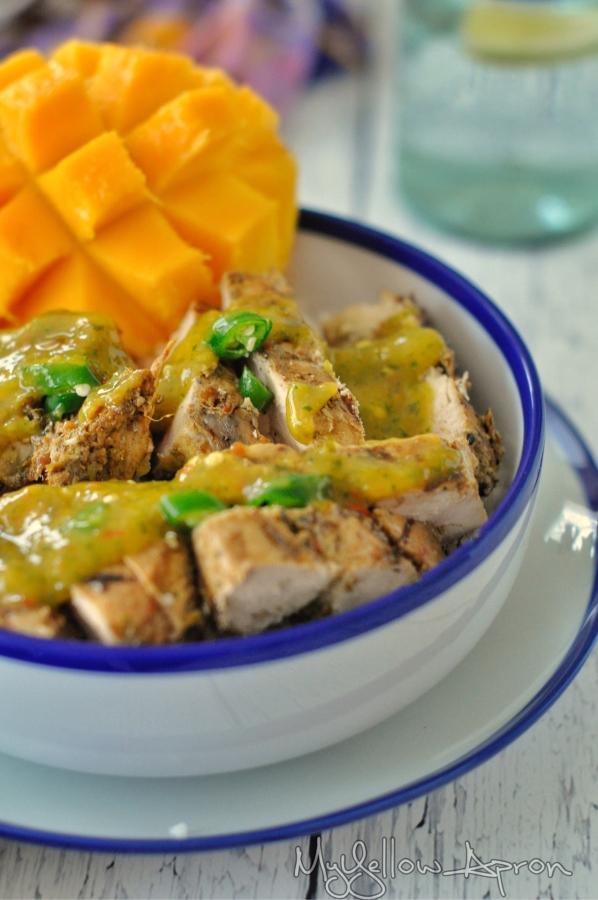 Chili-Lime-Mango Chicken (Healthy