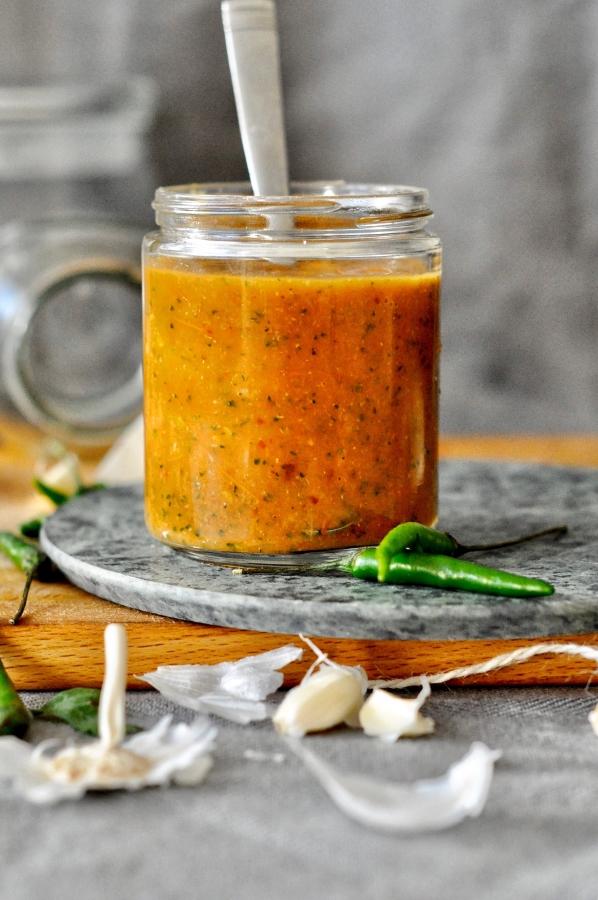 Tomato-Chili-Garlic-Chutney, Chutney, Relish, Side, Spicy, Condiment
