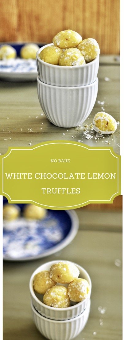 No Bake White Chocolate Lemon Truffles