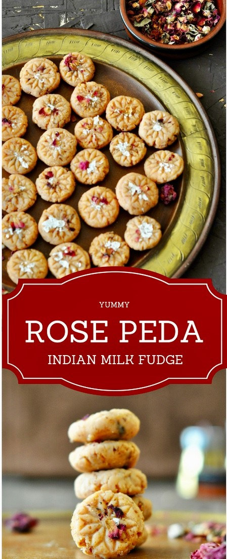 Rose Peda, Gulkand Peda, Pedha, Diwali, Sweets, Indian Sweets, Milk, Fudge