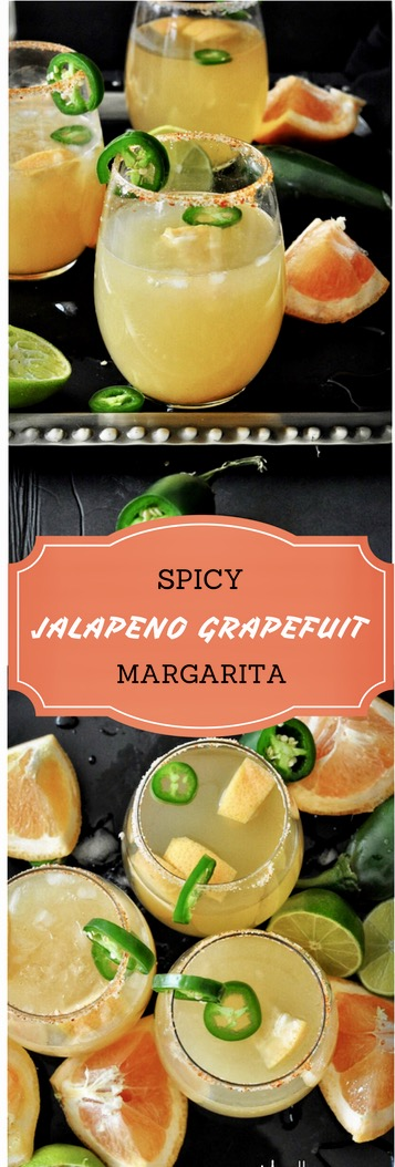 Jalapeno Cocktail, Jalapeno Margarita, Spicy Cocktail, Spicy Margarita, Mexico, Grapefruit, Summer cocktail, Alcohol, Grapefruit, Beverages