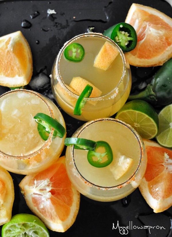 Jalapeno Cocktail, Jalapeno Margarita, Spicy Cocktail, Spicy Margarita, Mexico, Grapefruit, Summer cocktail, Alcohol, Grapefruit, Beverages