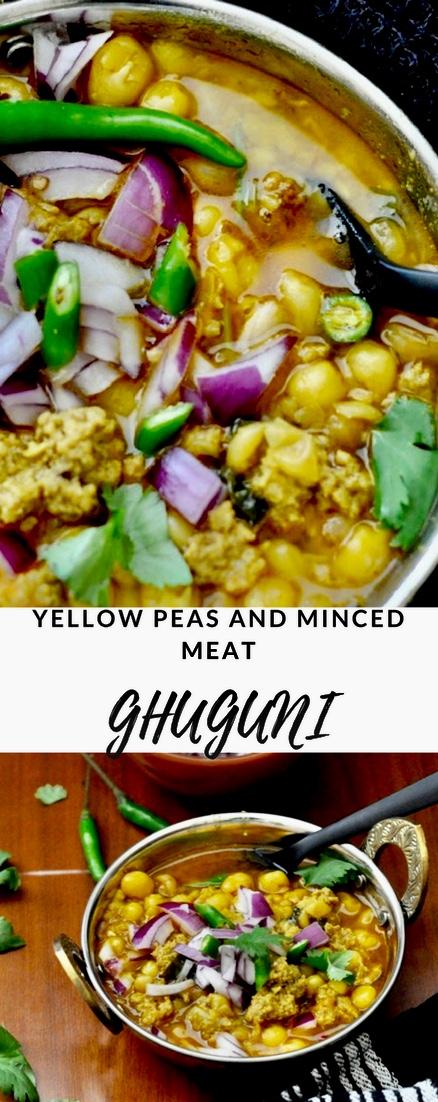 Mangsher Ghuguni, Ghugni, Yellow peas, Minced meat, Street Food, Non Vegetarian Street Food, Indian Street Food