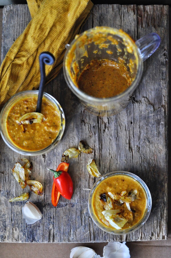 Garlic Marinade, Garlic Peanut Chutney, Garlic Marinade, Garlic Peanut Topping, Side, Chutney, Spicy