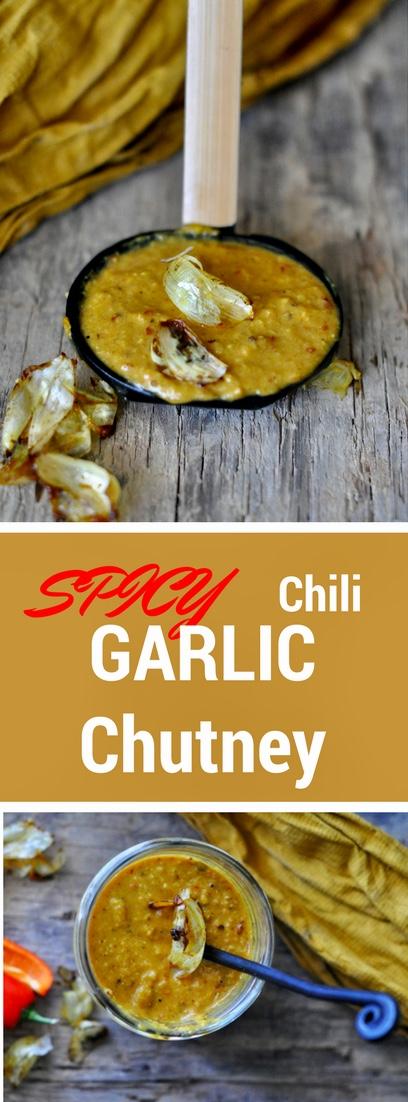 Garlic Chili Peanut Chutney