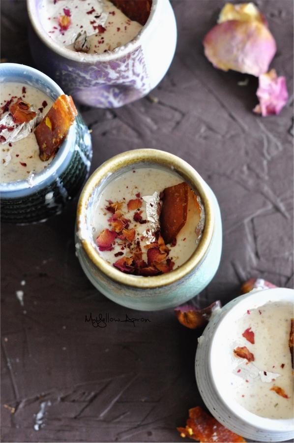 Gulab Phirni, Rose Phirni, Pistachio Phirni, Middle Eastern Dessert, North Indian Dessert, Wedding Dessert, Holi Dessert, Holi Sweets, Phirni