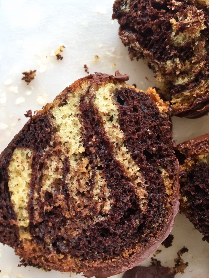 Marble Cake, Chocolate vanilla swirled cake, German Chocolate Marble Cake, Easy Cake, easy glaze