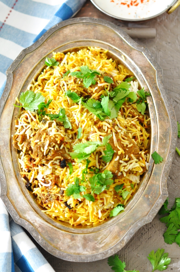 Dum Biryani, Authentic Hyderabadi Biryani, Ghost Biryani, Mutton Biryani, Lamb Biryani, Nawab Cuisine, Indian Cuisine, Pulao, Pilaf, Saffron, Kesar