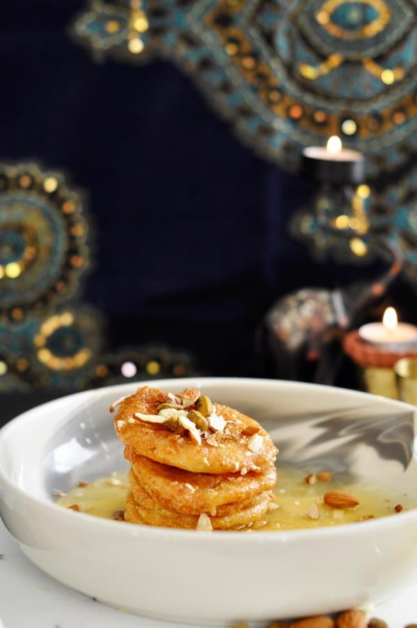 malpua, chhena malpua, paneer malpua, diwali dessert, Indian dessert, Odisha malpua, indian pancakes, saffron, cardamom, pistachio