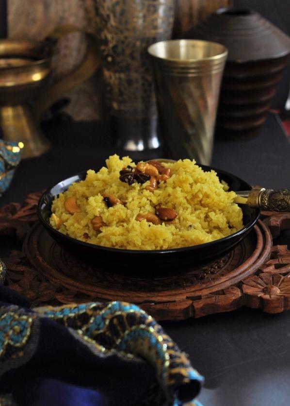 Puri Kanika, Mahaprasad Kanika, Avada Kanika, Odisha Kanika, Mitha Pulao, Palau, Mitha Bhata, Sweet Rice, Vegetarian, Vegan, Pure Ghee