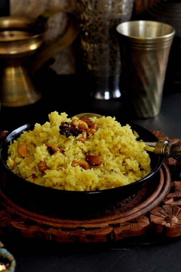 Puri Kanika, Mahaprasad Kanika, Avada Kanika, Odisha Kanika, Mitha Pulao, Palau, Mitha Bhata, Sweet Rice, Vegetarian, Vegan, Pure Ghee, Basmati Rice