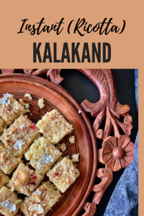 Kalakand recipe, Diwali sweet recipe, Indian sweet recipe, Instant Kalakand, Microwave Kalakand, Ricotta cheese kalakand, 2 ingredients sweet