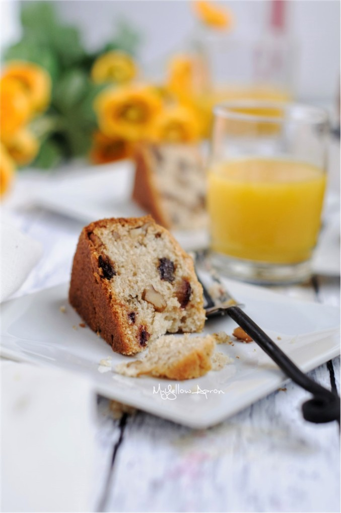 A healthy loaf bread cake filled with the goodness of dates and nuts. Can be your breakfast or snack.